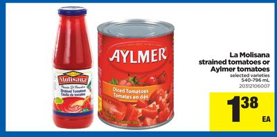 La Molisana Strained Tomatoes Or Aylmer Tomatoes - 540-796 mL