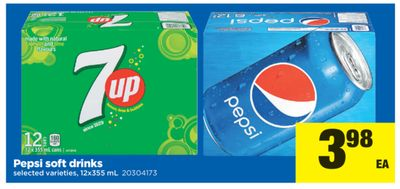 Pepsi Soft Drinks - 12x355 mL