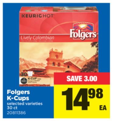 Folgers K-cups - 30 Ct
