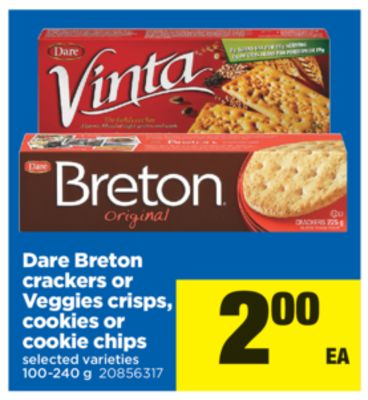 Dare Breton Crackers Or Veggies Crisps - Cookies Or Cookie Chips - 100-240 g
