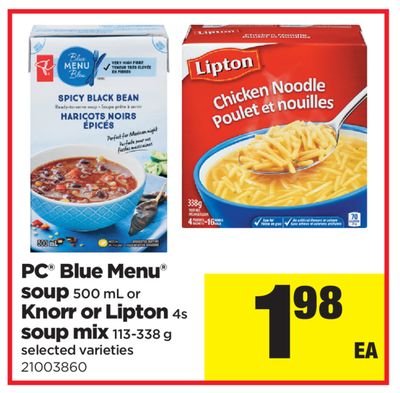 PC Blue Menu Soup - 500 Ml Or Knorr Or Lipton 4s Soup Mix - 113-338 G