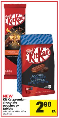 Kit Kat Premium Chocolate Pouches Or Tablets - 140 g