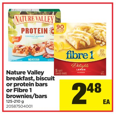 Nature Valley Breakfast - Biscuit Or Protein Bars Or Fibre 1 Brownies/bars - 125-210 g