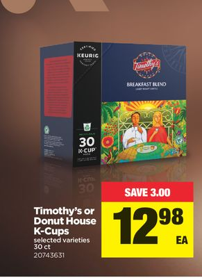 Timothy's Or Donut House K-cups