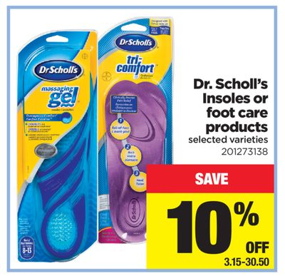 Dr. Scholl's Insoles Or Foot Care Products