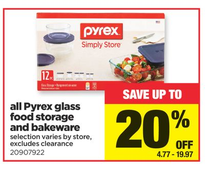 All Pyrex Glass Food Storage And Bakeware