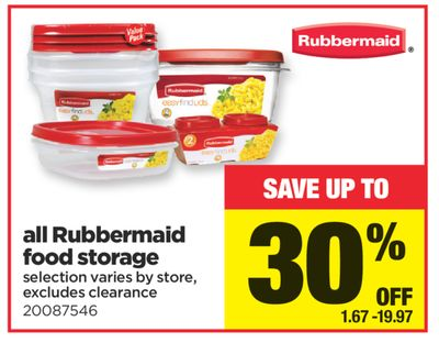 All Rubbermaid Food Storage