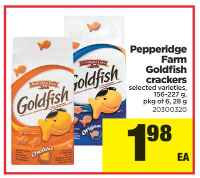 Pepperidge Farm Goldfish Crackers - 156-227 g - Pkg of 6 - 28 g