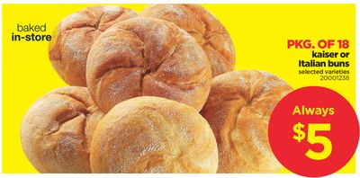 Kaiser Or Italian Buns - Pkg Of 18