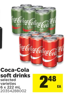 Coca-cola Soft Drinks - 6 X 222 mL