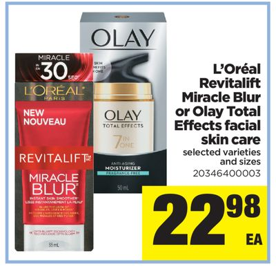 L'oréal Revitalift Miracle Blur Or Olay Total Effects Facial Skin Care