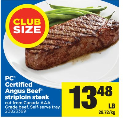 PC Certified Angus Beef Striploin Steak