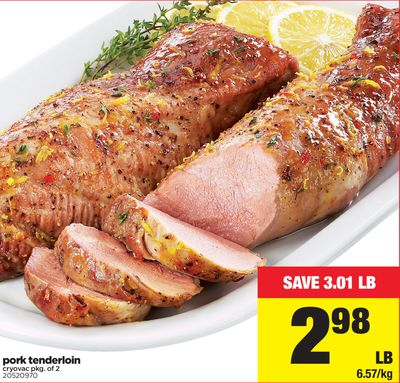Pork Tenderloin Cryovac - Pkg of 2