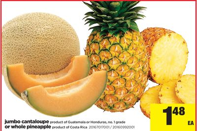 Jumbo Cantaloupe Or Whole Pineapple