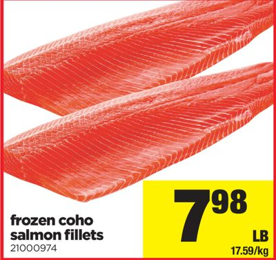 Frozen Coho Salmon Fillets