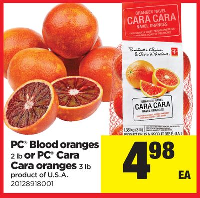 PC Blood Oranges - 2 Lb Or PC Cara Cara Oranges - 3 Lb