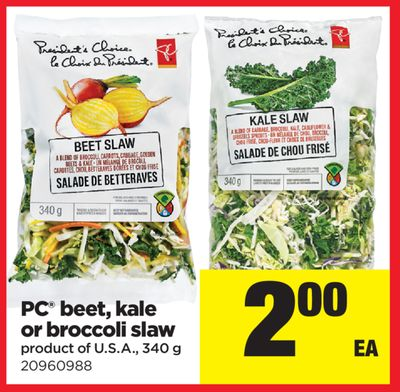 PC Beet - Kale Or Broccoli Slaw - 340 g