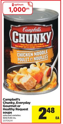 Campbell's Chunky - Everyday Gourmet Or Healthy Request Soups - 500/540 mL
