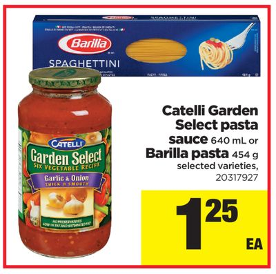 Catelli Garden Select Pasta Sauce - 640 mL Or Barilla Pasta - 454 g