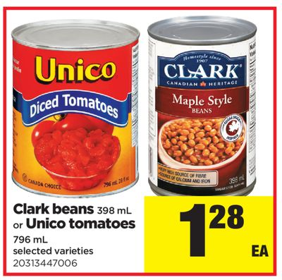 Clark Beans - 398 mL Or Unico Tomatoes - 796 mL