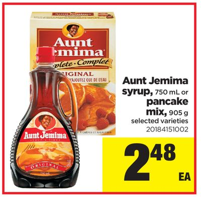 Aunt Jemima Syrup - 750 mL Or Pancake Mix - 905 g