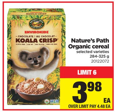 Nature's Path Organic Cereal - 284-325 g