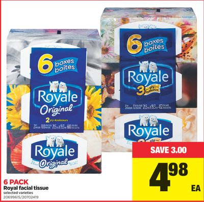 Royal Facial Tissue - 6 Pack