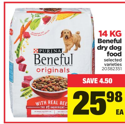 Beneful Dry Dog Food - 14 Kg
