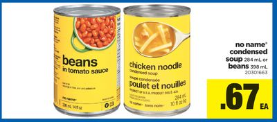 No Name Condensed Soup - 284 Ml Or Beans - 398 Ml