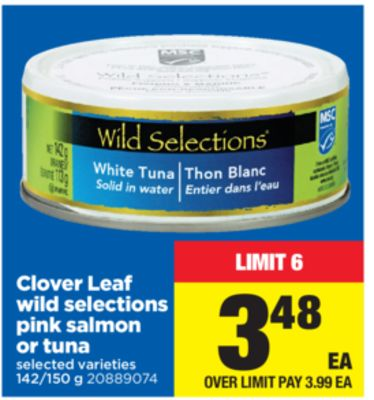 Clover Leaf Wild Selections Pink Salmon Or Tuna - 142/150 g