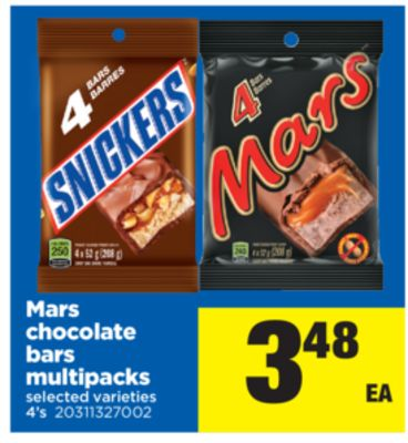 Mars Chocolate Bars Multipacks - 4's