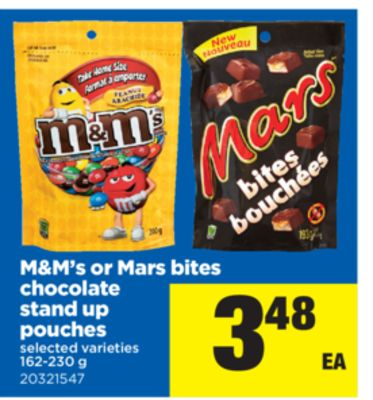 M&m's Or Mars Bites Chocolate Stand Up Pouches - 162-230 g