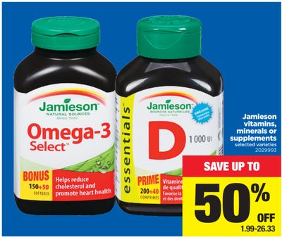 Jamieson Vitamins - Minerals Or Supplements