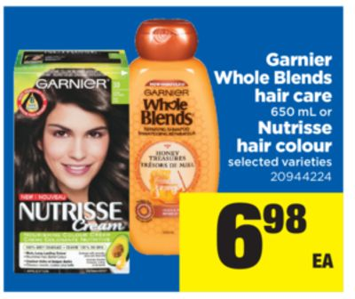 Garnier Whole Blends Hair Care - 650 Ml Or Nutrisse Hair Colour