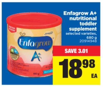 Enfagrow A+ Nutritional Toddler Supplement - 680 g