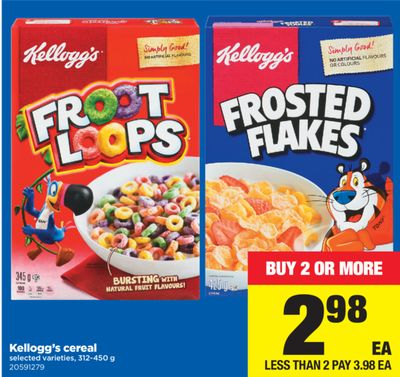 Kellogg's Cereal - 312-450 g