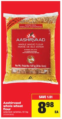 Aashirvaad Whole Wheat Flour - 9.1 Kg