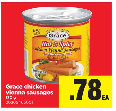 Grace Chicken Vienna Sausages - 130 g
