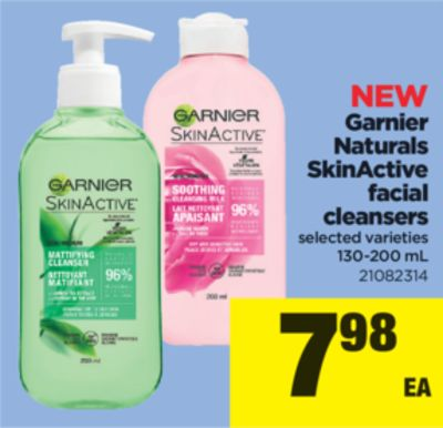 Garnier Naturals Skinactive Facial Cleansers - 130-200 mL
