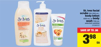 St. Ives Facial Scrubs - 150-300 mL - Body Lotion 600 mL Or Body Wash - 709 mL