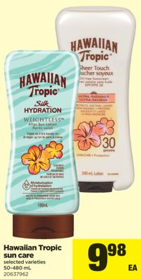Hawaiian Tropic Sun Care - 50-480 mL