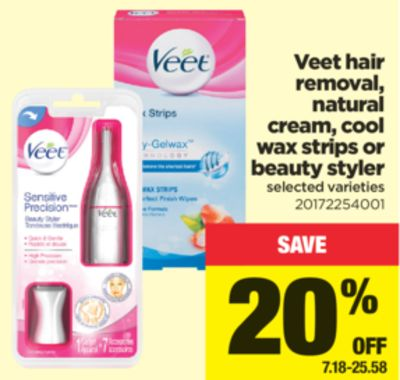 Veet Hair Removal - Natural Cream - Cool Wax Strips Or Beauty Styler