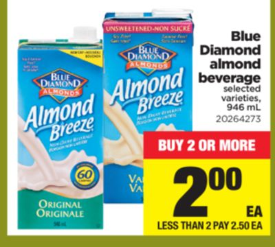 Blue Diamond Almond Beverage - 946 mL