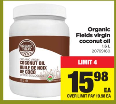 Organic Fields Virgin Coconut Oil - 1.6 L