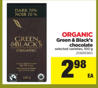 Green & Black's Chocolate - 100 g