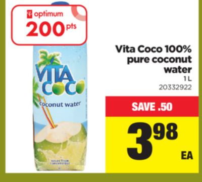 Vita Coco 100% Pure Coconut Water - 1 L