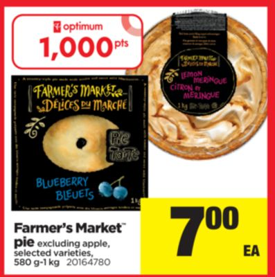 Farmer's Market Pie Excluding Apple Pie - 580 G-1 Kg