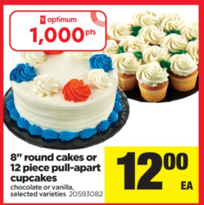 8'' Round Cakes Or 12 Piece Pull-apart Cupcakes