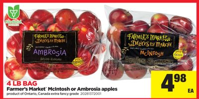 Farmer's Market Mcintosh Or Ambrosia Apples - 4 Lb Bag
