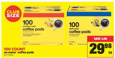 No Name Coffee PODS - 100 Count